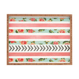 Allyson Johnson Floral Stripes And Arrows Rectangular Tray