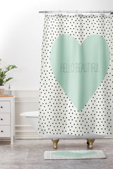 Allyson Johnson Hello Beautiful Heart Shower Curtain And Mat