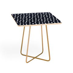 Allyson Johnson Navy Strokes Square Side Table