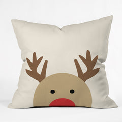 Allyson Johnson Reindeer Outdoor Throw Pillow