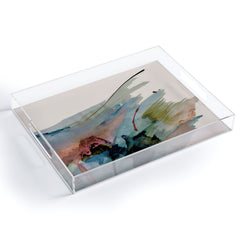Alyssa Hamilton Art Begin again 2 an abstract mix Acrylic Tray