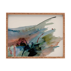 Alyssa Hamilton Art Begin again 2 an abstract mix Rectangular Tray