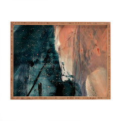 Alyssa Hamilton Art Same Stars 2 an abstract mixe Rectangular Tray