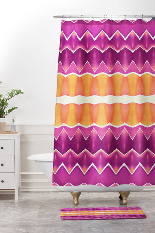 yellow and purple shower curtain. amy sia agadir 3 purple shower curtain and mat Amy Sia Shower Curtains  Deny Designs