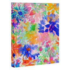 Amy Sia Bloom Blue Art Canvas