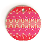 Amy Sia Geo Triangle 2 Pink Cutting Board Round