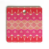 Amy Sia Geo Triangle 2 Pink Cutting Board Square