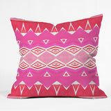 Amy Sia Geo Triangle 2 Pink Outdoor Throw Pillow
