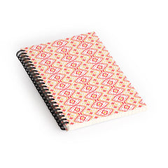 Amy Sia Ikat 2 Cherry Spiral Notebook