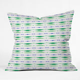 Amy Sia Inky Oceans Stripe Outdoor Throw Pillow