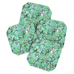 Amy Sia Marble Bubble Mint Coaster Set