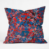 Amy Sia Marble Bubble Red Outdoor Throw Pillow