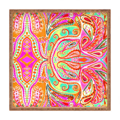 Amy Sia Paisley Pink Square Tray