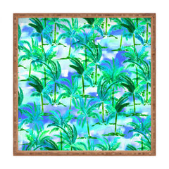 Amy Sia Palm Tree Blue Green Square Tray