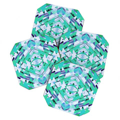 Amy Sia Paros Green Coaster Set