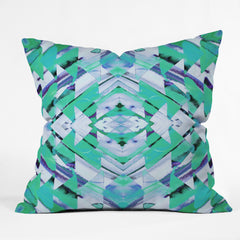 Amy Sia Paros Green Outdoor Throw Pillow