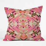 Amy Sia Paros Pink Outdoor Throw Pillow