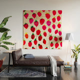 Strawberry Fruit Wood Wall Mural Amy Sia