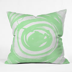 Amy Sia Swirl Sage Outdoor Throw Pillow