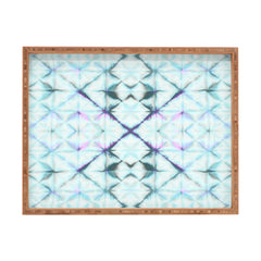 Amy Sia Tangier Aqua Blue Rectangular Tray