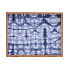 Amy Sia Tie Dye 2 Navy Rectangular Tray