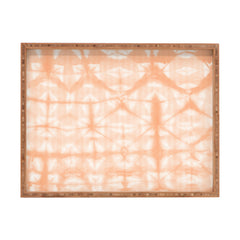 Amy Sia Tie Dye 2 Peach Rectangular Tray