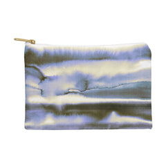 Amy Sia Watercolor Stripe Deep Blue Pouch