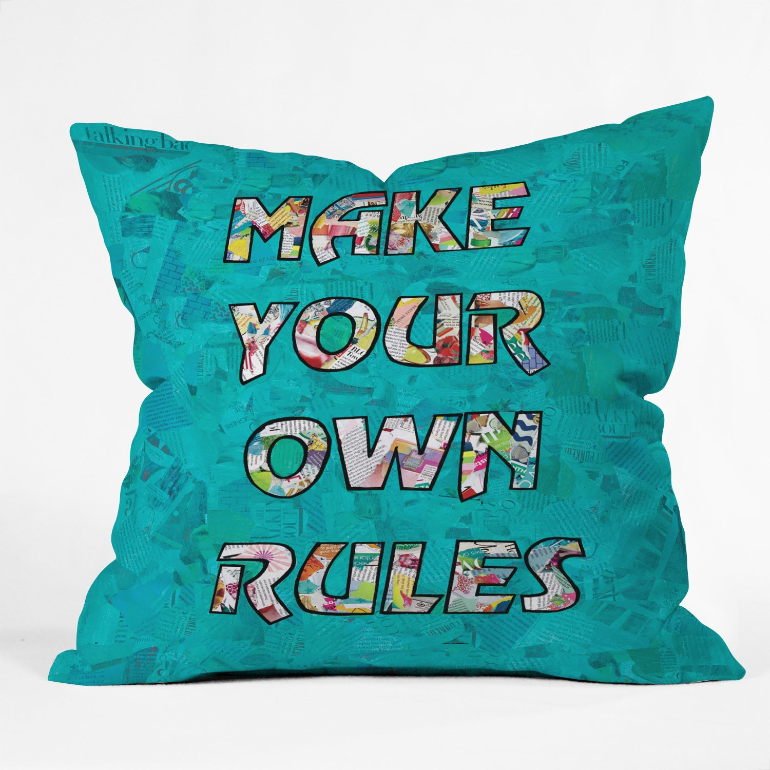 make your own rules outdoor throw pillow amy smith