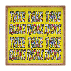 Amy Smith Take Risks and Repeat Square Tray