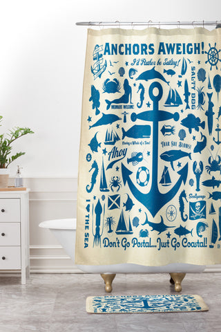 Incroyable Anderson Design Group Anchors Aweigh Shower Curtain And Mat