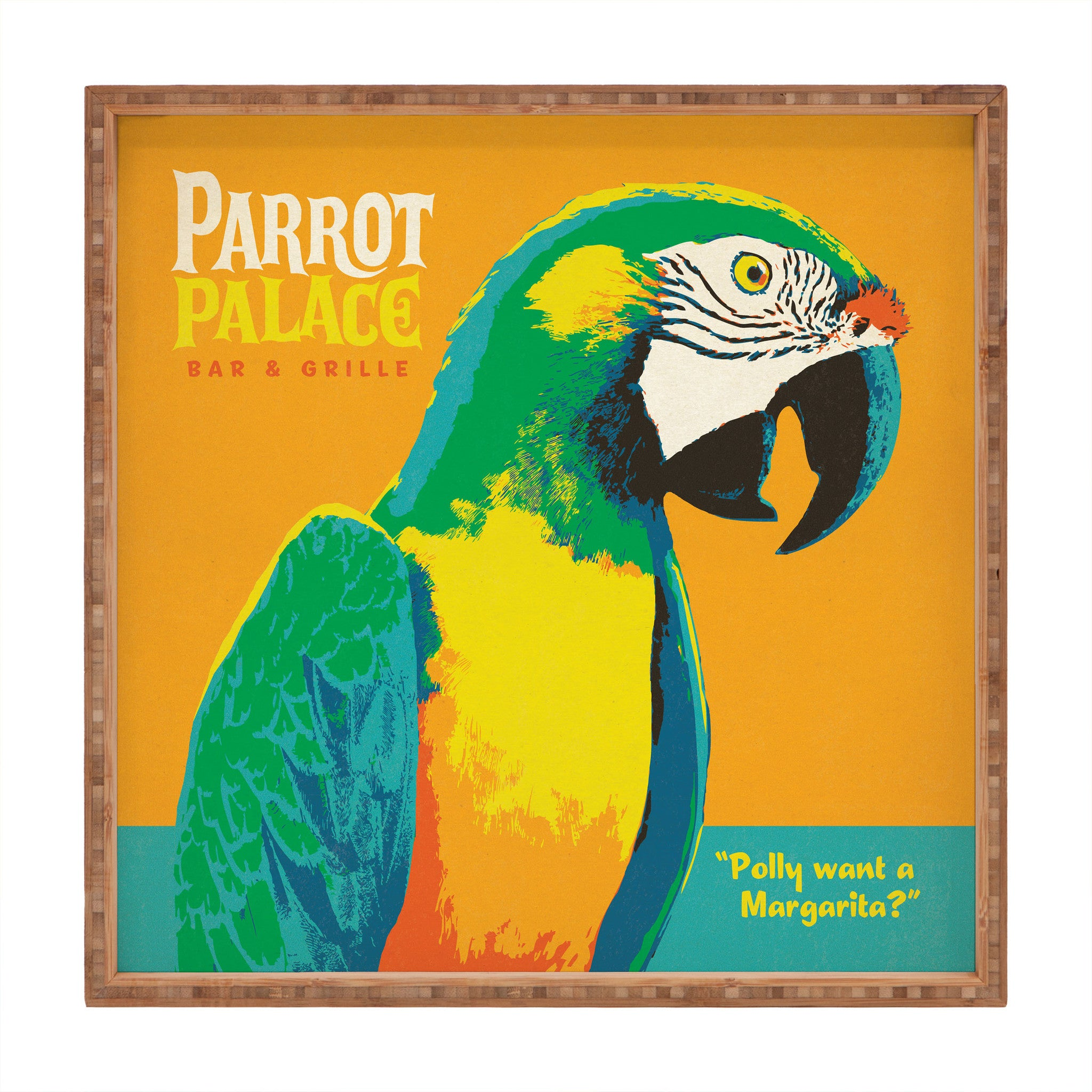 Parrot Palace Square Tray Anderson Design Group