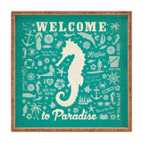 Anderson Design Group Seahorse Pattern Square Tray