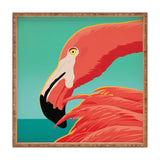 Anderson Design Group Tropical Flamingo Square Tray