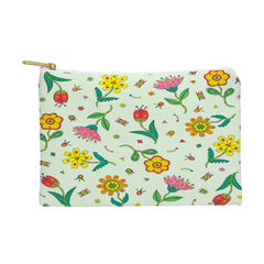 Andi Bird Surreal Flowers Leaf Pouch