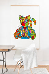 Angry Squirrel Studio CAT Buttonnose Buddies Art Print And Hanger