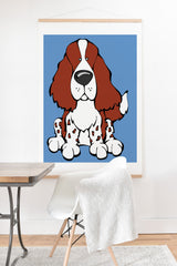 Angry Squirrel Studio English Springer Spaniel 23 Art Print And Hanger