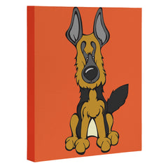 Angry Squirrel Studio German Shepard Dog 4 Art Canvas