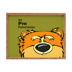 Angry Squirrel Studio Pomeranian 21 Rectangular Tray
