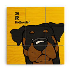 Angry Squirrel Studio Rottweiler 36 Wood Wall Mural