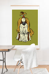 Angry Squirrel Studio Shih Tzu 30 Art Print And Hanger