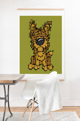 Angry Squirrel Studio Yorkshire Terrier 38 Art Print And Hanger