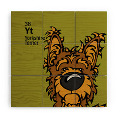 Angry Squirrel Studio Yorkshire Terrier 38 Wood Wall Mural