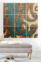 Arcturus Octopus Wood Wall Mural