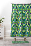 Arcturus Peacock 3 Shower Curtain And Mat