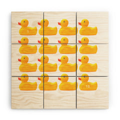 Ballack Art House Duckies Wood Wall Mural