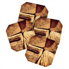 Ballack Art House Wood Play Coaster Set