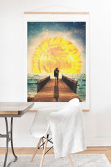 Belle13 A Magical Sunrise Art Print And Hanger