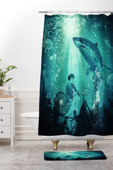 Belle13 Concert Under The Sea Shower Curtain And Mat