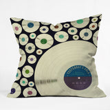 Belle13 Evergreen Music Outdoor Throw Pillow