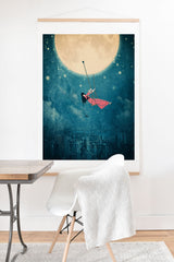 Belle13 Moon Swing Art Print And Hanger